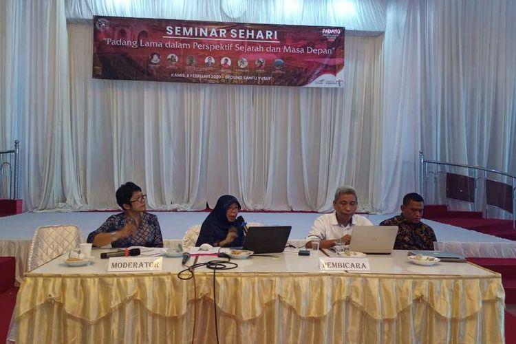 Seminar Cap Go Meh 2020 di Padang tentang sejarah  panjang keberagaman dan toleransi etnik, Kamis (6/2/2020)