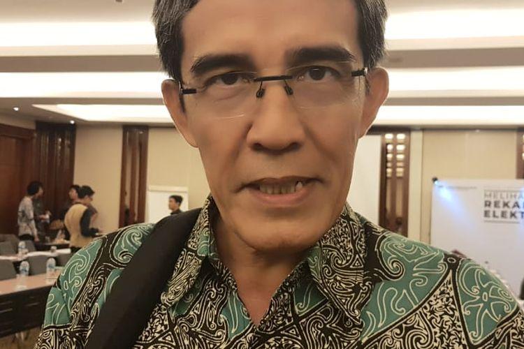 Mantan Komisioner KPU RI Hadar Nafis Gumay saat ditemui di acara FGD KPU tentang E-Rekapitulasi di kawasan Sudirman, Jakarta Pusat, Rabu (2/10/2019).
