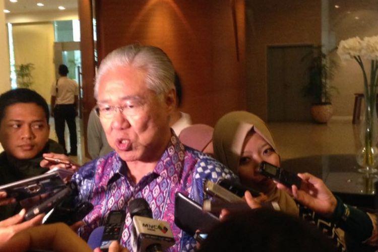 Menteri Pedagangan Enggartiasto Lukita Usai Lakukan Pengarahan Kepada Pegawai Kemendag dalam sebuah diskusi di Kantor Kemendag, Jakarta (3/4/2017)