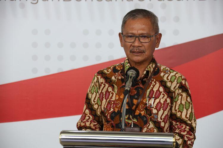 Juru bicara pemerintah untuk penanganan covid-19 Achmad Yurianto saat memberikan keterangan pers di Graha BNPB, Jumat (29/3/2020).