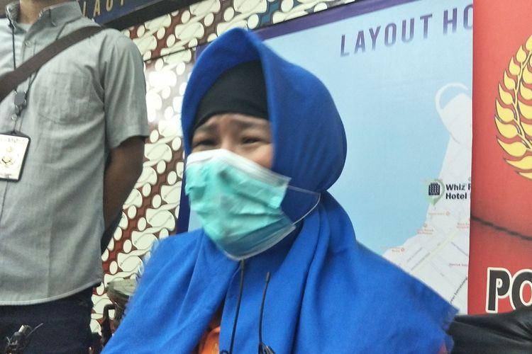 Aulia Kesuma (AK) di Polda Metro Jaya, Jakarta Selatan, Selasa (3/9/2019).