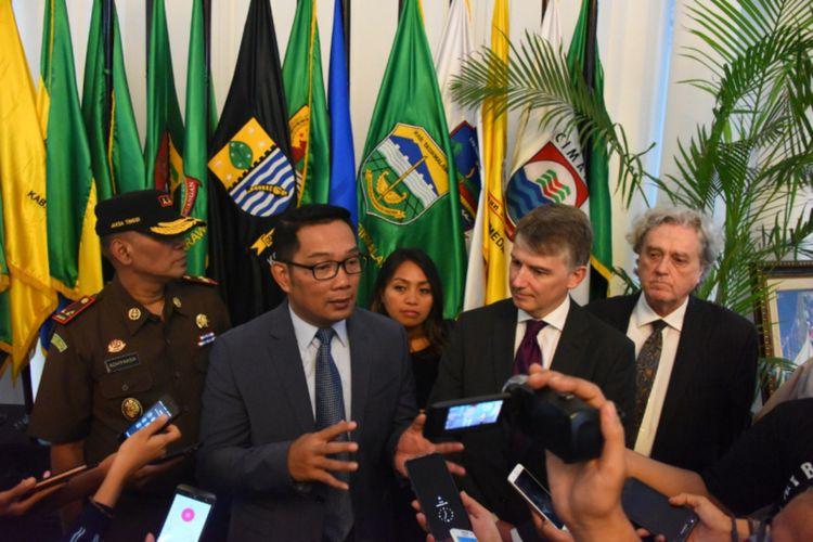 Gubernur Jawa Barat Ridwan Kamil saat ditemui di Gedung Sate, Jalan Diponegoro, Senin (10/2/2020) kemarin.