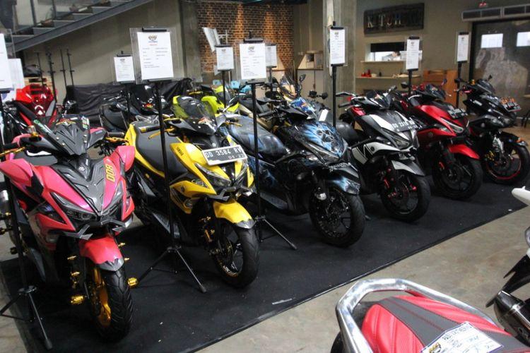 Deretan modifikasi Yamaha Aerox 155 VVA di Makassar.