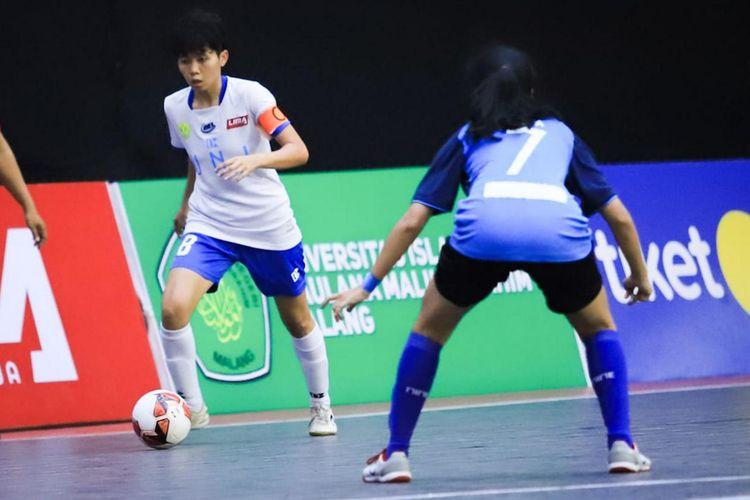 Universitas Negeri Jakarta (UNJ) menjadi juara baru Liga Mahasiswa Futsal Nationals Season 7 setelah mengalahkan Universitas Negeri Yogyakarta (UNY) di grand final, Jumat (6/12/2019).
