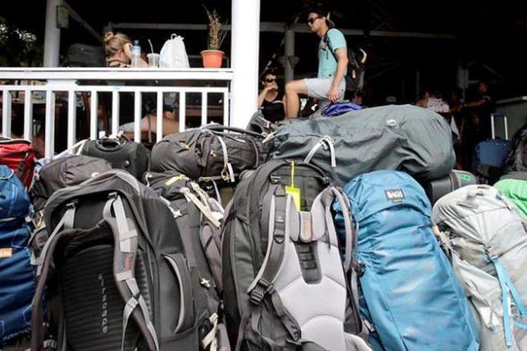 Wisatawan asing backpackers di Pulau Gili Trawangan, Lombok, Kamis (4/2/2016). Gili Trawangan adalah pulau dengan kunjungan wisata tertinggi diantara Pulau Gili lainnya yaitu Gili Air dan Gili Meno dan menjadi andalan wisata di Nusa Tengara Barat