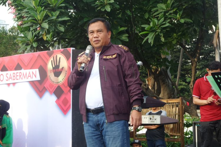 Kepala Satgas Pungli Komjen Pol Dwi Priyatno saat ditemui di kawasan CFD Jalan Jenderal Sudirman, Jakarta, Minggu (12/11/2017)