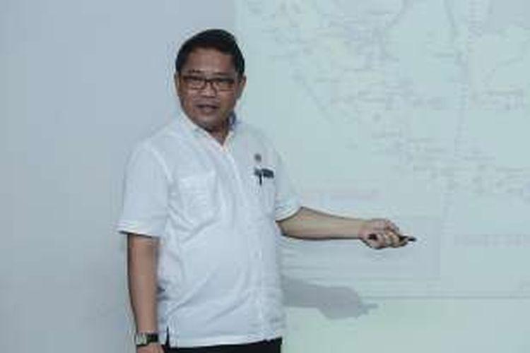 Menteri Komunikasi dan Informatika Rudiantara memaparkan program kerja Kemenkominfo saat mengunjung kantor redaksi Kompas.com, Jakarta, Kamis (17/3/2016).