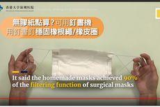Cara Mudah Bikin Masker Sendiri di Rumah Menurut Ilmuwan Hong Kong