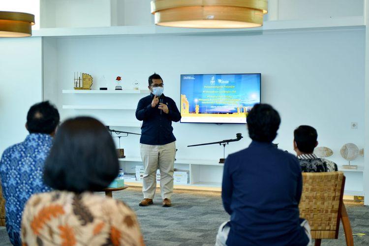 Penandatangan Engineering, Procurement, Construction, Installation and Commissioning (EPIC) antara PGN dengan PT Pratiwi Putri Sulung, Kamis (18/03/2021).