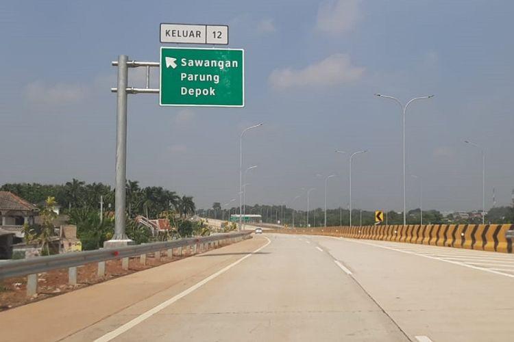 Jalan Tol Depok-Antasari (Desari) Seksi II Brigif-Sawangan.