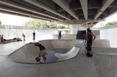 Rampung 100 Persen, Skatepark Kolong Flyover Pasar Rebo Segera Diresmikan