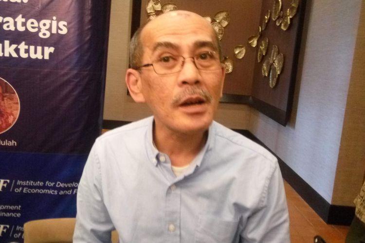 Pengamat Ekonomi Faisal Basri saat di Jakarta, Kamis (14/2/2019).