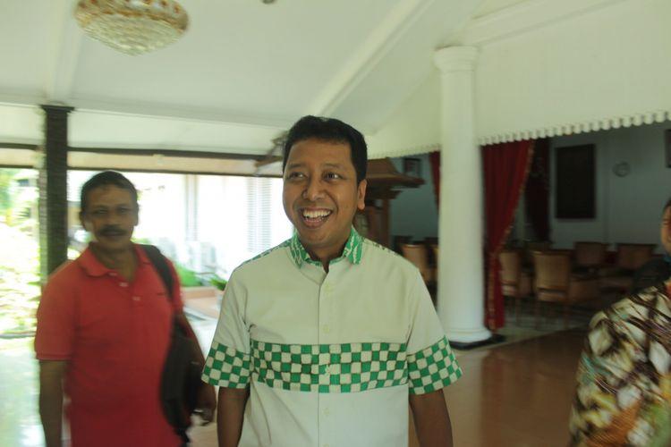 Ketua umum Partai Persatuan Pembangunan (PPP), Muhammad Romahurmuziy atau Gus Romy saat mengisi workshop Aplikasi Keuangan Desa di Pendopo Pemkab Purbalingga, Jawa Tengah, Jumat (4/5/2018).