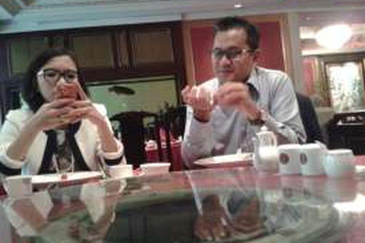 Erwin Kurnia Winenda, Partner di kantor hukum Hanafiah Ponggawa & Partners (HPRP), menjelaskan mengenai fintech dan perkembangannya, dalam sebuah diskusi di Jakarta, beberapa waktu lalu.