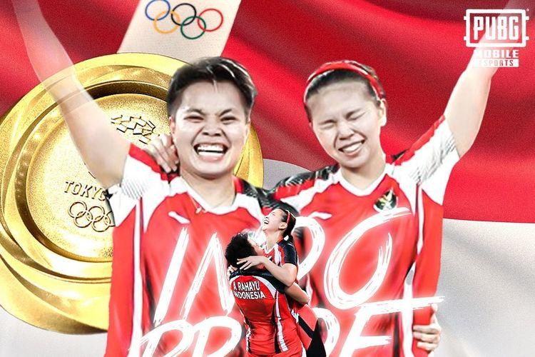 Greysia Polii dan Apriyani Rahayu berhasil meraih emas pertama untuk Indonesia di cabor bulutangkis Olimpiade 2020.