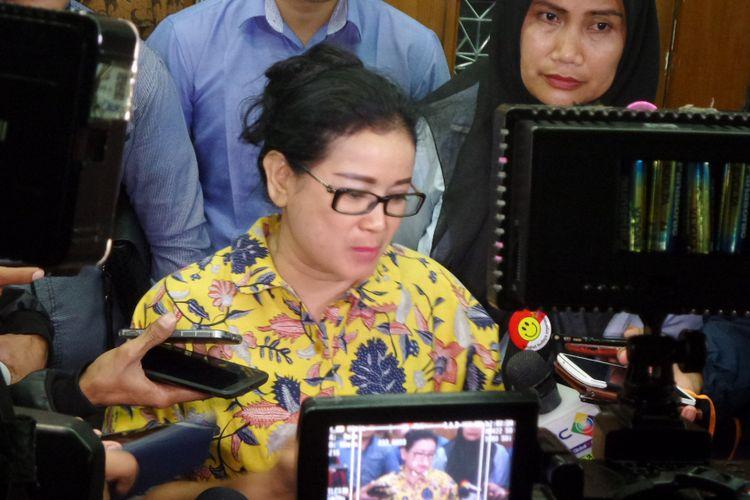 Miryam S Haryani seusai menjalani sidang pembacaan tuntutan di Pengadilan Tipikor Jakarta, Senin (23/10/2017).