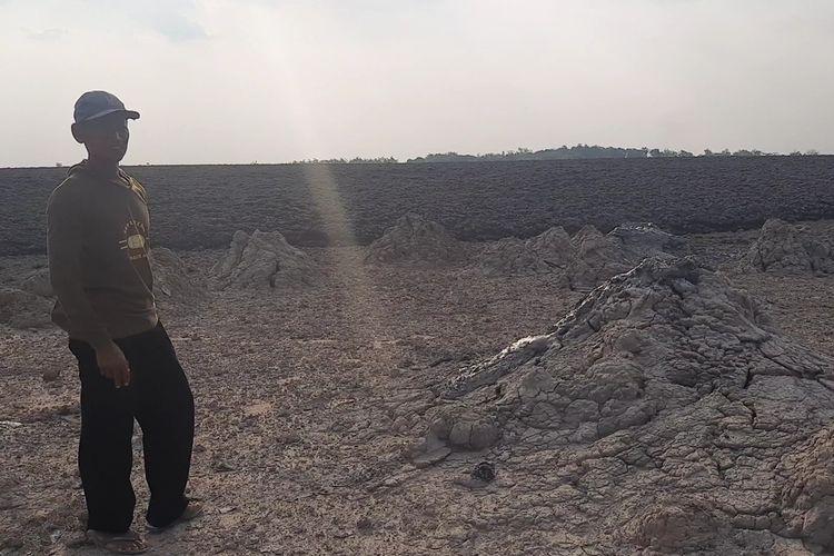Kondisi Kawah Kesongo usai meletus, Selasa (28/9/2021)
