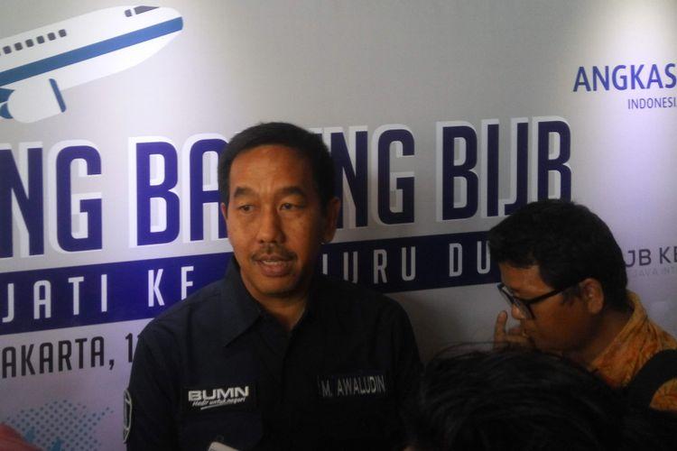 Direktur PT Angkasa Pura (AP) II Muhammad Awaluddin di Jakarta, Selasa (12/11/2018).