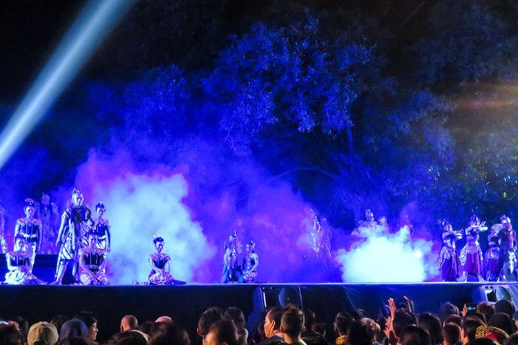 Pertunjukan Sendratari Ramayana di Benteng Vastenburg, Kota Solo.