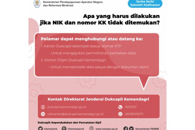 Jika peserta kesulitan daftar sekolah kedinasan karena NIK dan KK, ini solusi Kemenpan RB.