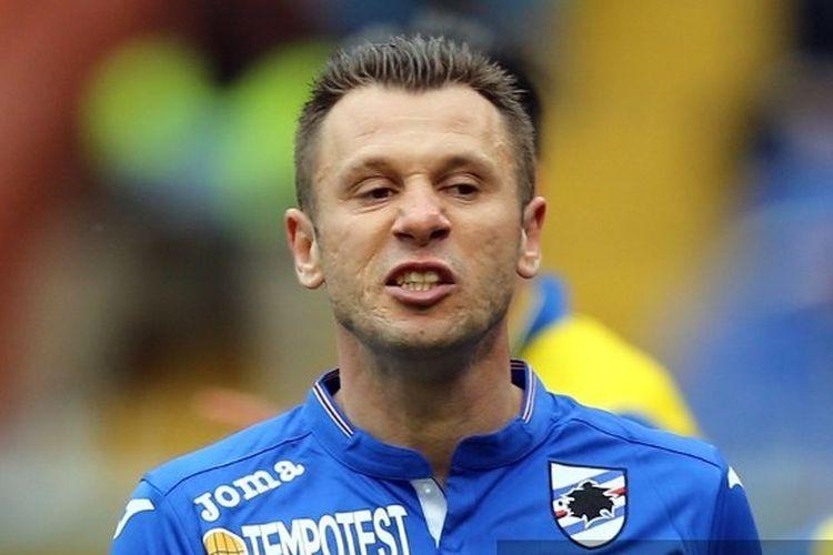Mantan penyerang timnas Italia dan Sampdoria, Antonio Cassano.