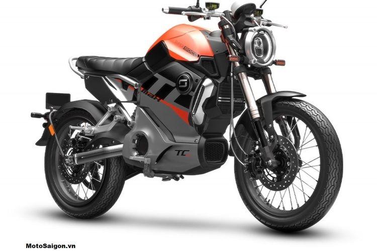 Motor listrik Super Soco TC MAX dengan gaya neo klasik