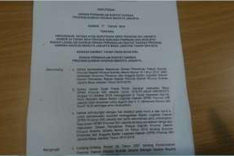 Surat Fraksi Gerindra DKI.