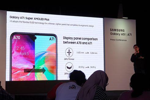 Alasan Bodi Galaxy A71 Bisa Lebih Ramping dari Galaxy A51