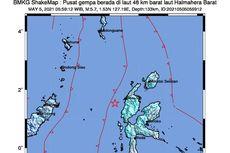 Gempa Hari Ini: M 5,7 Guncang Halmahera, Terasa di Manado dan Ternate