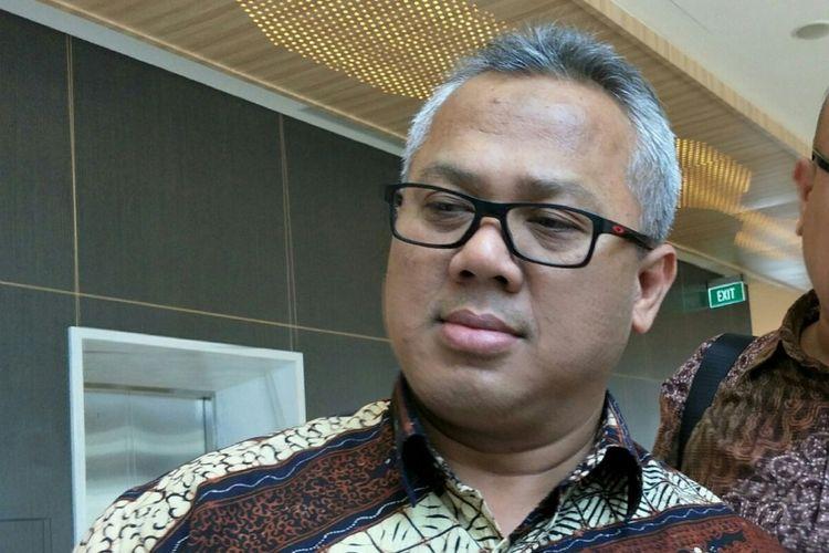 Ketua Komisi Pemilihan Umum (KPU) RI, Arief Budiman ketika di Hotel HARRIS Vertu, Jakarta, Kamis (15/3/2018).