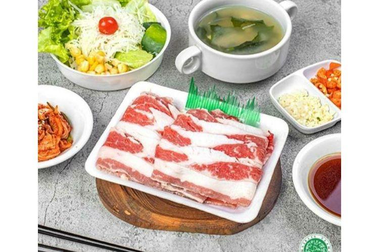 Salah satu produk makanan siap masak daei Boga yang dijual di Bliblimart.