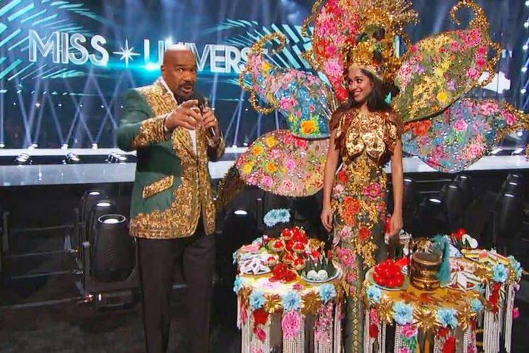 Steve Harvey salah sebut pemenang National Costume di ajang Miss Universe 2019