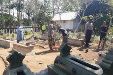 Tak Pakai Masker, Warga Bondowoso Disanksi Bersihkan Kuburan