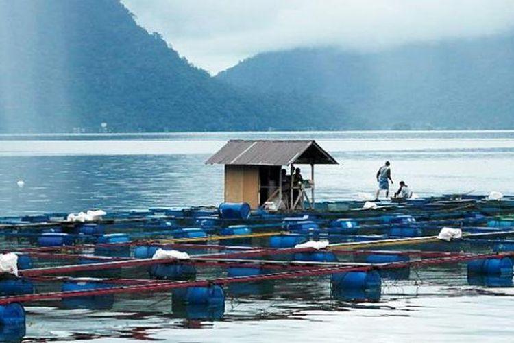 Danau Maninjau di Agam, Sumatera Barat, masuk Penyelamatan Danau Prioritas pada 2021. Di danau ini banyak budidaya ikan dengan keramba, namun banyak pula ikan mati yang membuat keindahan danau terusik.
