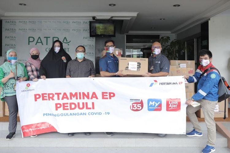 Penyerahan bantuan penanggulangan Covid-19 dari Pertamina EP.