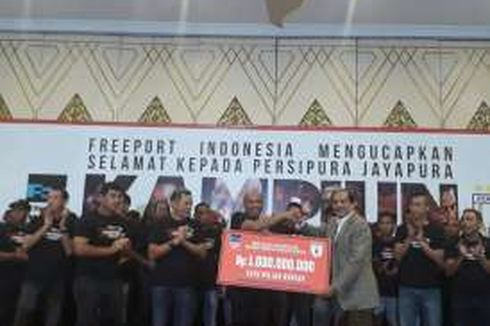 Freeport Berikan Bonus Rp 1 Miliar untuk Persipura Jayapura