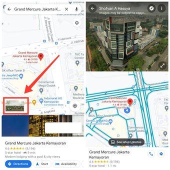 Fitur split screen di Google Maps bisa tampilkan rute jalan secara dua dimensi dan gambar street view secara bersamaan