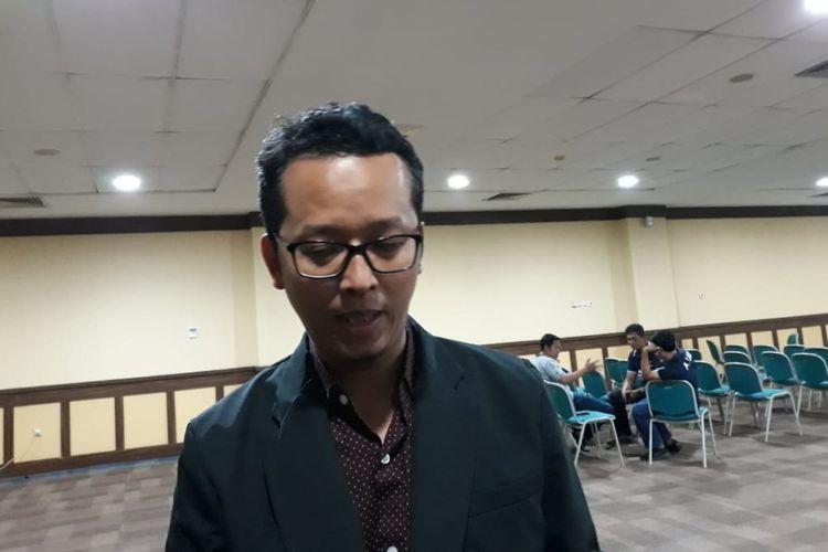Ketua KPU DIY, Hamdan Kurniawan di ruang Yudhistira Jogja Expo Center (JEC), Kecamatan Banguntapan, Kabupaten Bantul, Sabtu (11/5/2019) malam