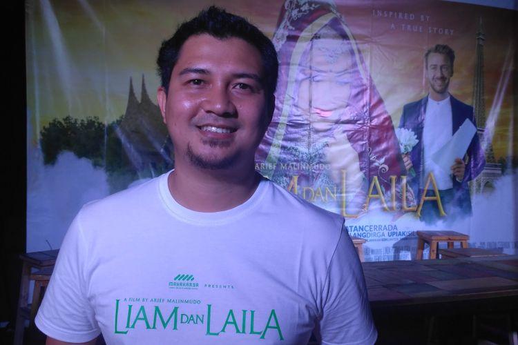 Sutradara muda Arief Malinmudo usai jumpa pers film Liam dan Laila di kawasan Tebet, Jakarta Selatan, Rabu (12/9/2018).