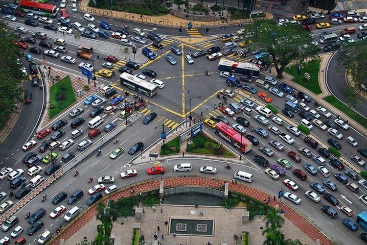 Ilustrasi suasana lalu lintas di Kuala Lumpur