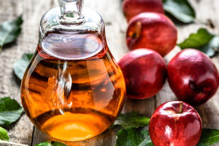 Ilustrasi sari cuka apel