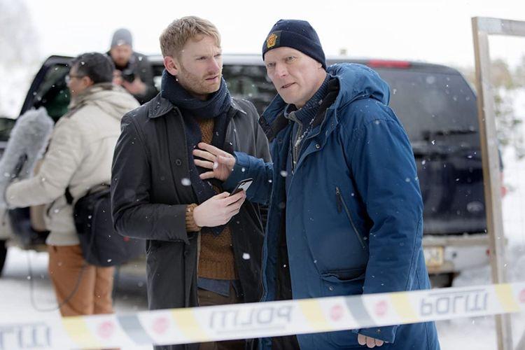 Sven Nordin dalam serial drama thriller Wisting (2019).