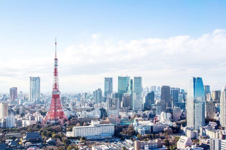 Ilustrasi kota Tokyo.