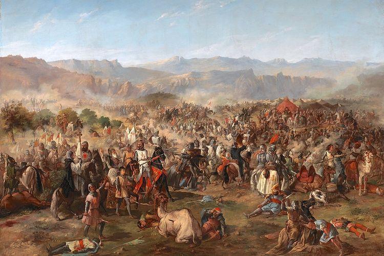 Pertempuran Las Navas de Tolosa (1212), titik balik penting dari Reconquista.