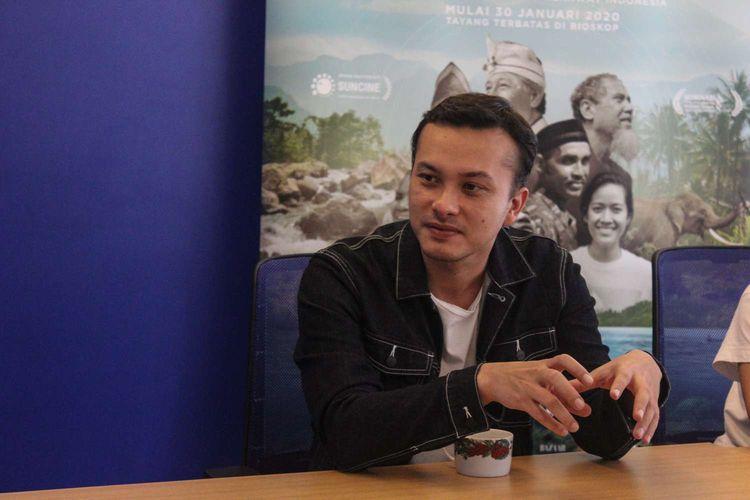 Nicholas Saputra selaku produser film Semesta saat Media visit film Semesta di Kantor Redaski Kompas.com, Menara Kompas, Jakarta, Selasa(28/1/2020).