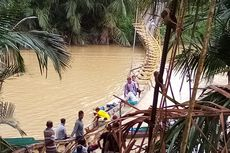 Jembatan Gantung Penghubung 2 Desa di Kaltim Putus, 50 Warga Tercebur ke Sungai