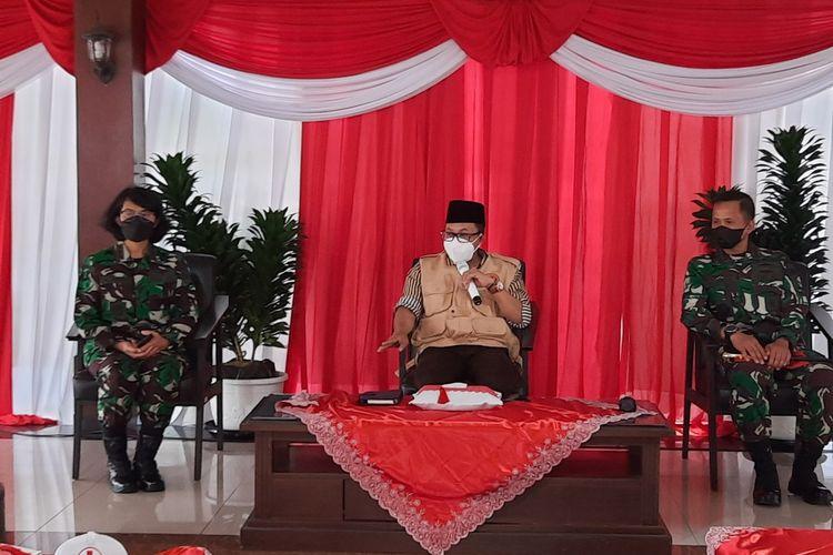 Wali Kota Malang, Sutiaji dalam rapat di Balai Kota Malang, Selasa (3/8/2021).