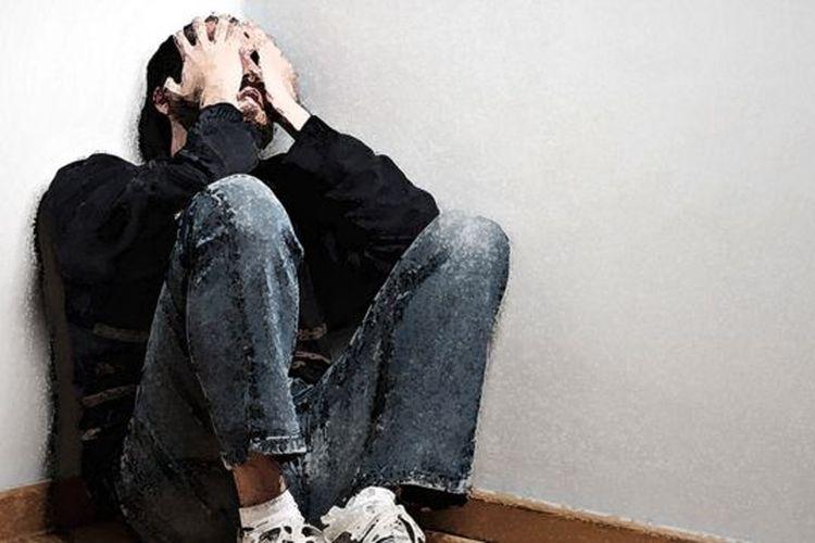Ilustrasi kekerasan rumah tangga terhadap pria.
