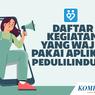 INFOGRAFIK: Daftar Kegiatan yang Wajib Pakai Aplikasi PeduliLindungi