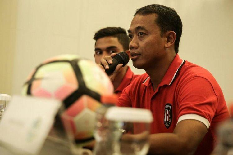 Pelatih Bali United, Eko Purdjianto.